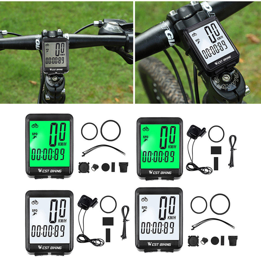 Bicycle Computer Accessories-Tool Stopwatch Odometer Bike Waterproof Wireless with LCD