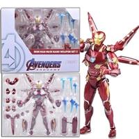 SHF Iron Man MK50 Nano Weapon Set 2 Action Figure From 2019 Movie Marvel Avengers 4 Endgame Toys Dolls Gift For Christmas