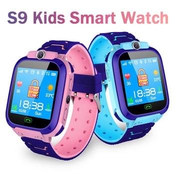 Reloj inteligente S9 para niños, reloj inteligente resistente al agua SOS, antipérdida, con tarjeta SIM de 2G, localizador de Chat de voz