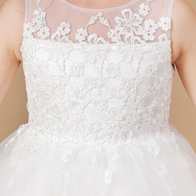 Ball Gown White Flower Girls Dress 6