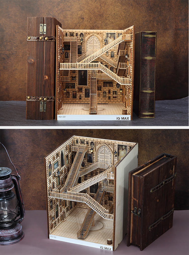 Spiral Stairs Miniature Booknook English Instruction