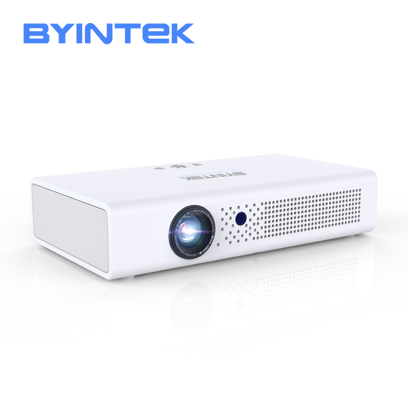 BYINTEK R19 DLP mini projector,support 3D 4K DLP display for Full HD 1080P HDMI,1280*800dpi 700 ANSI lumen Android projector image