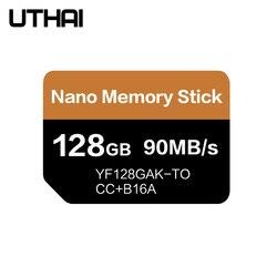 Cartão uthai j39 nm ler 90 mb/s 128 gb nano cartão de memória aplicar para huawei mate20 pro mate20 x p30 nova5 pro com usb3.1 tipo c