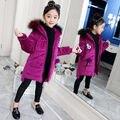 -30 grad Mädchen Kleidung Winter Jacke Mädchen Goldenen Samt Baumwolle gefütterte Koreanische Winter Dicke Lange Baumwolle gefütterte jacke Mantel 12