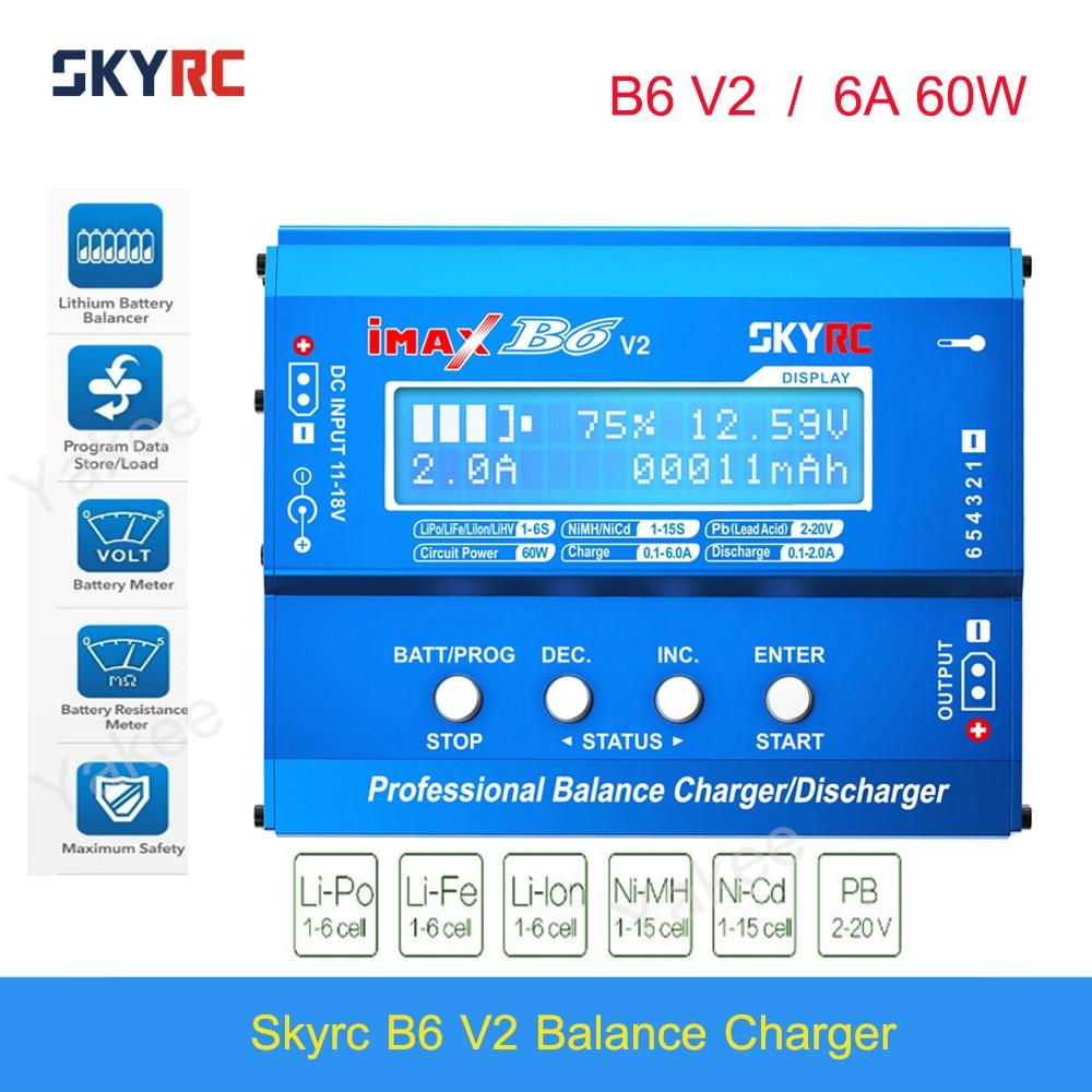 Original SKYRC IMAX B6 V2 Balance Charger Discharger 6A 60W For DJI Mavic TB4X NiMH NiCD LiHV NiCd PB Li-ion Battery Charger