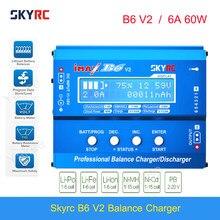 Original skyrc imax b6 v2 equilíbrio carregador descarregador 6a 60w para dji mavic tb4x nimh nicd lihv nicd pb li-ion bateria carregador