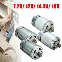 7,2/12/14,4/18 V engranaje eléctrico de 12 dientes Motor DE CC para Taladro Inalámbrico destornillador piezas de repuesto de mantenimiento