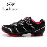 TIEBAO professionnel hommes femmes vélo cyclisme chaussures auto-verrouillage vtt VTT chaussures respirant Sport chaussures Zapatillas
