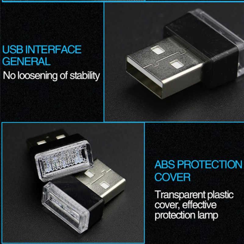 اكسسوارات السيارات الداخلية سيارة صغيرة مصباح لتهيئة الجو USB اللاسلكية LED سيارة الداخلية النيون المحيط مصباح سيارة الداخلية مجوهرات