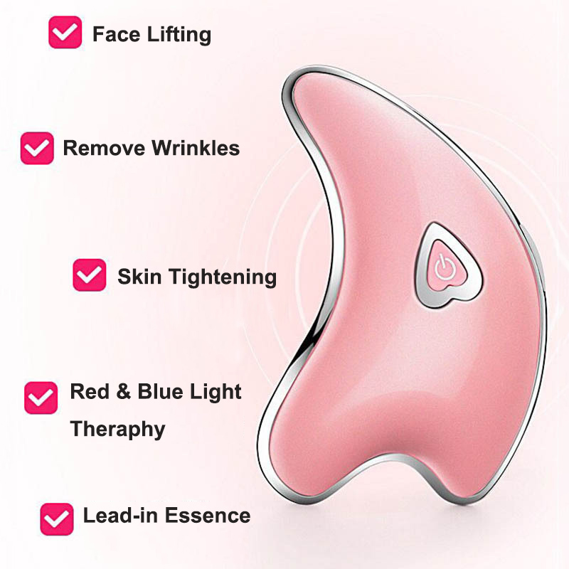 Face Neck Guasha Massage Machine Face Wrinkle Removal Device Body Massager Electirc Facial Skin Massage Scraping Beauty Tool 5