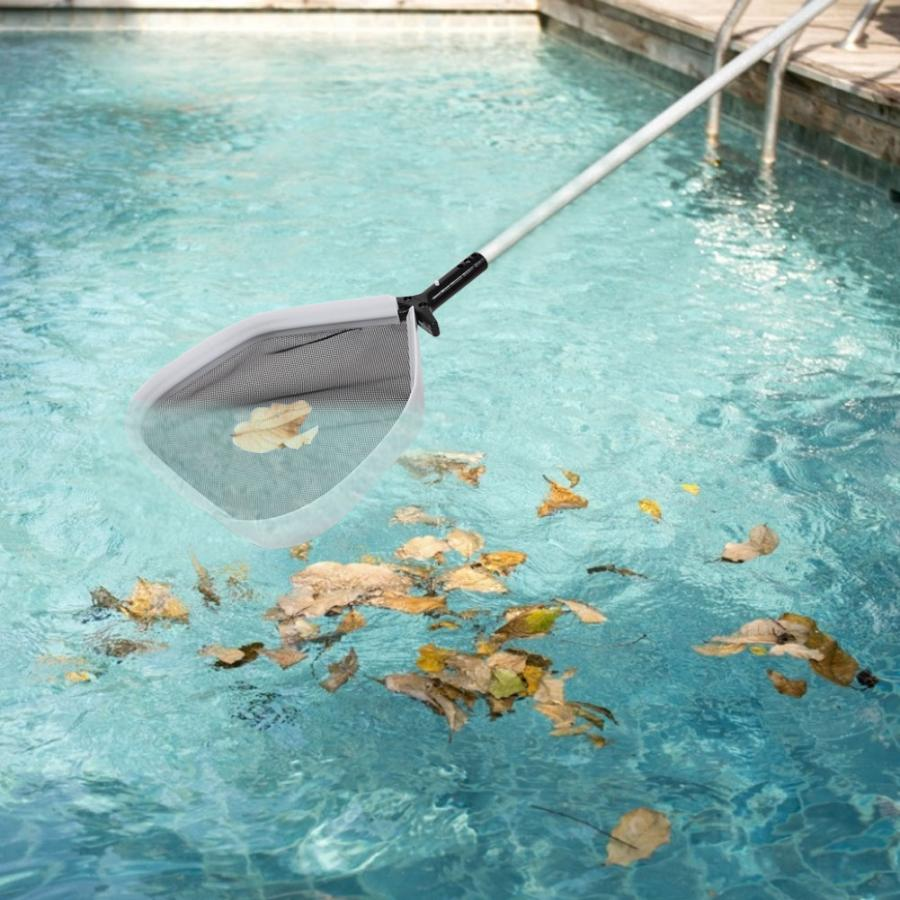 US $15.51 38% OFF|Swimming Pool Leaf Rake Net Skimmer Cleaning Net Swimming  Pool Cleaning Tool Accessories 50.5x36cm-in Cleaning Tools from Home & ...