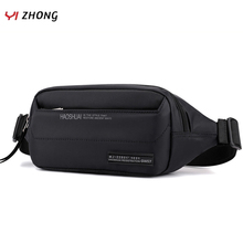 YIZHONG Outdoor Nylon Multifunction Fanny Pack for Men Casual Waterproof Waist Bag Chest Bag Running Mountaineering Belt Bag