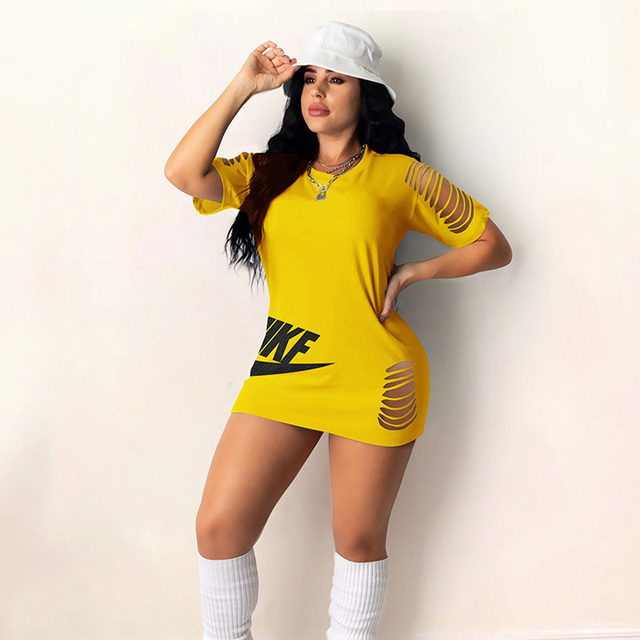 Black Hole Letter Print Mini Dress 2021 Women Summer Half Sleeve O-neck Fashion Y2k Sexy Plus Size Party Dresses For Women 4
