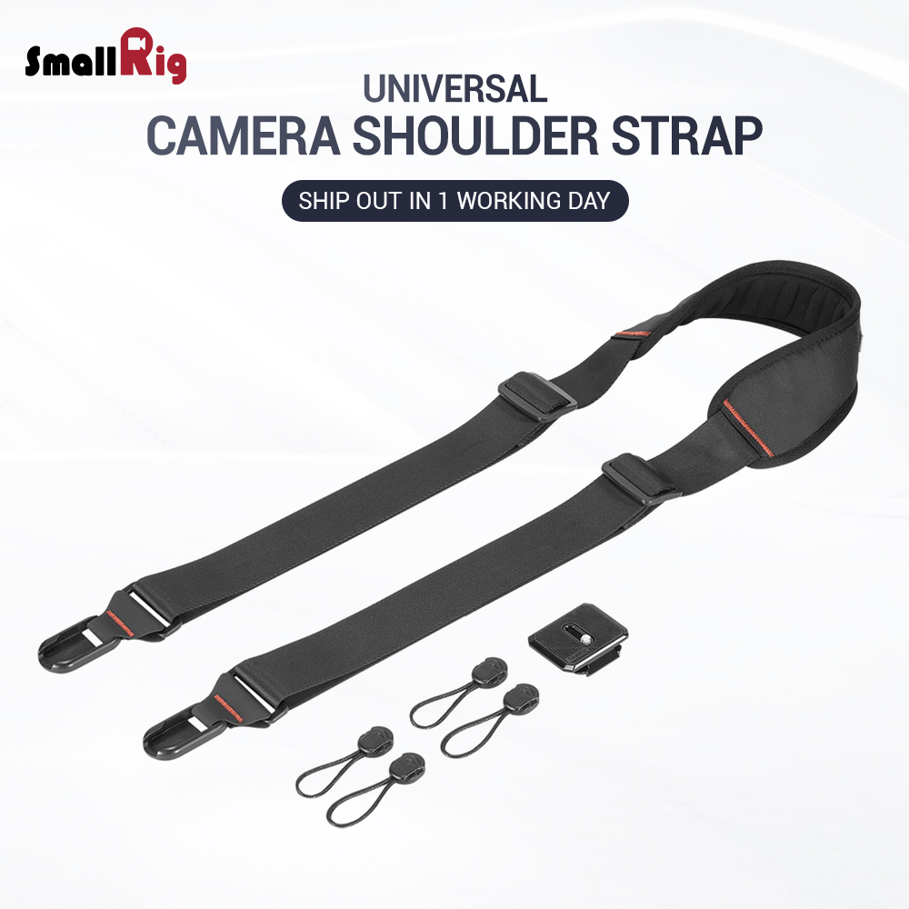 SmallRig DSLR Camera Adjustable Shoulder Strap With Quick Attachment / Detachment Rapid Link Connectors 2428