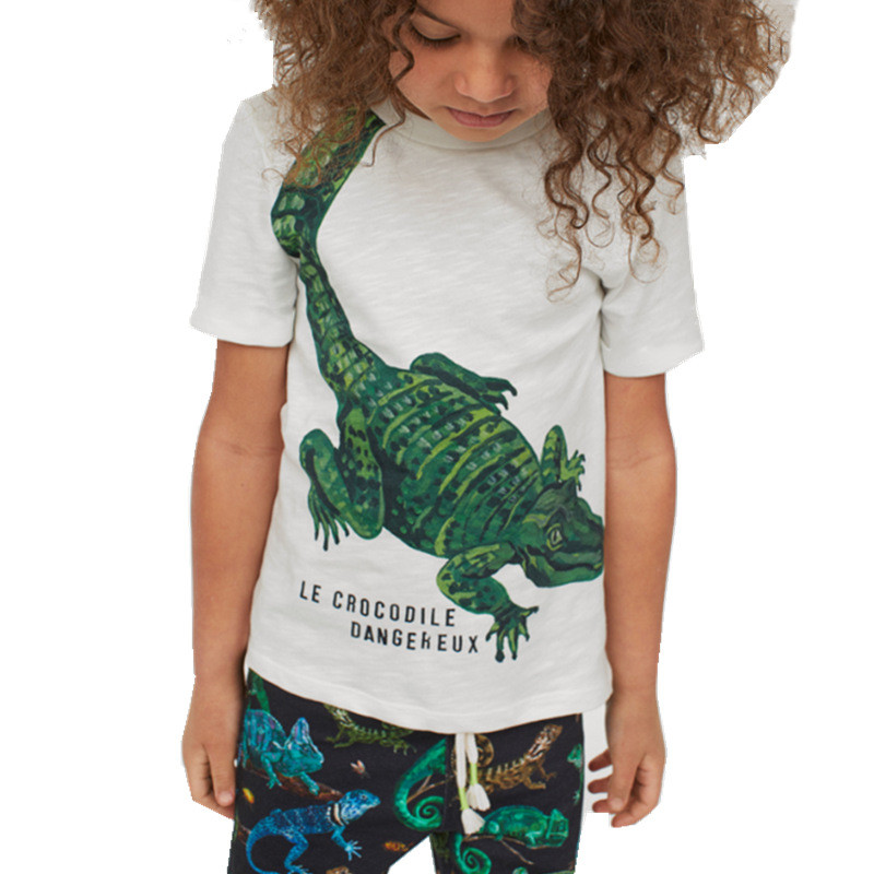 Jumping meters Animals Summer Boys Girls T shirts Crabs Printed Cotton Baby Clothes Tees Boys Tops 4