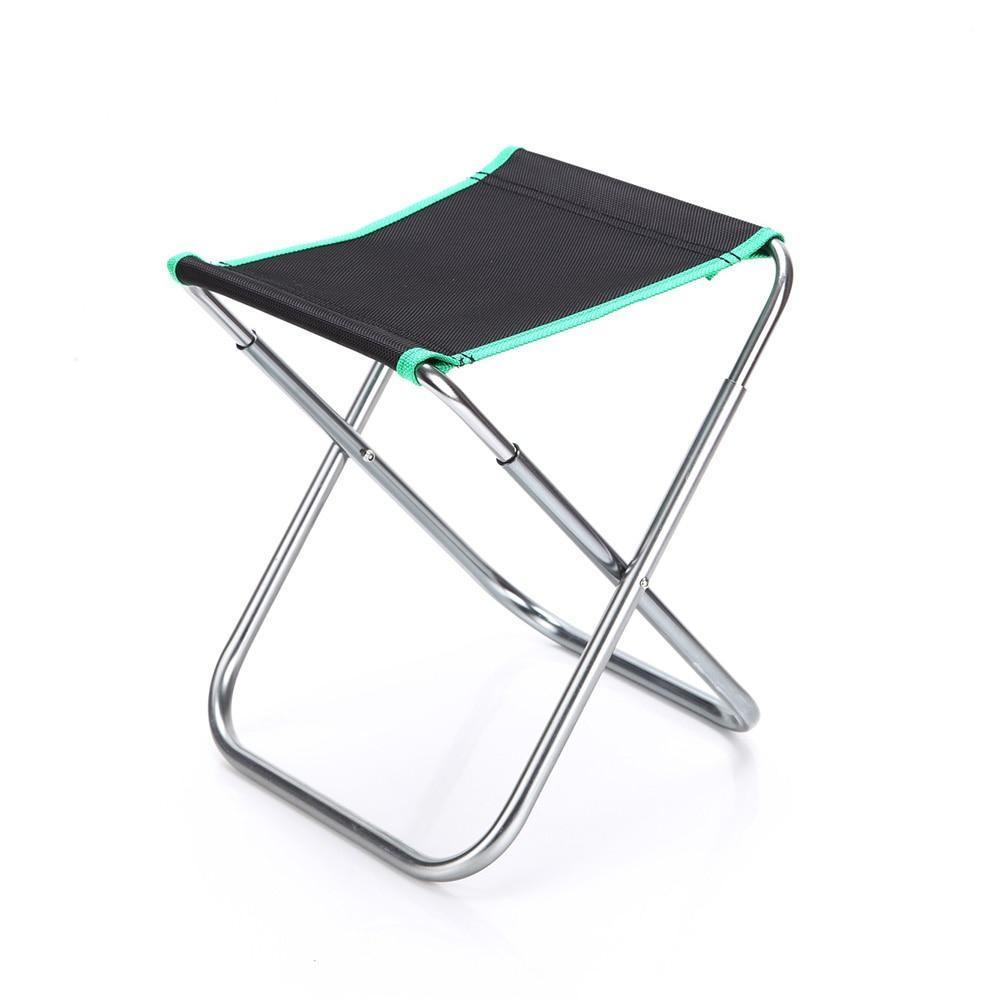 Ultra léger Portable en plein air pliable chaise de pêche en alliage d'aluminium pliant Camping pique-nique chaise de pêche chaise de plage avec sac