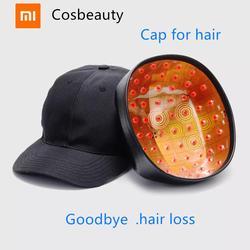 Xiaomi Cosbeauty LLLT шлем для роста волос Уменьшает выпадение волос, лечение волос, быстро восстанавливает рост, лазерная Кепка унисекс