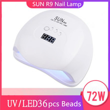 110W Pro UV Lamp LED Nail Lamp Nail Dryer For All Gels Polish Sun Light Infrared Sensing 10S/30S/99s Timer Smart For Manicur