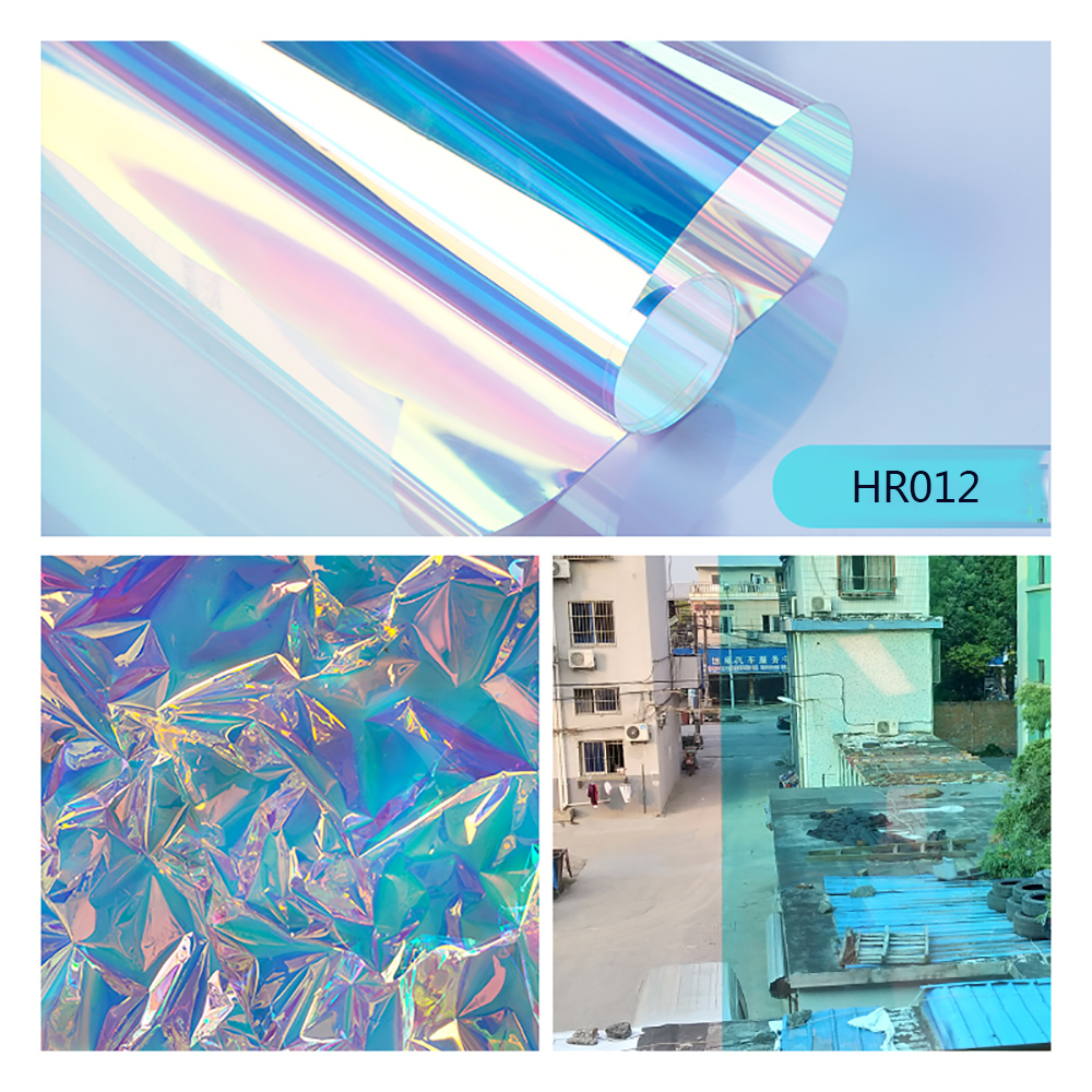 SUNICE Dichroic Iridescent Glass Tinting Window Sticker Glass Film Transparent Colored Film Christmas Party Festival DIY Decor - 3