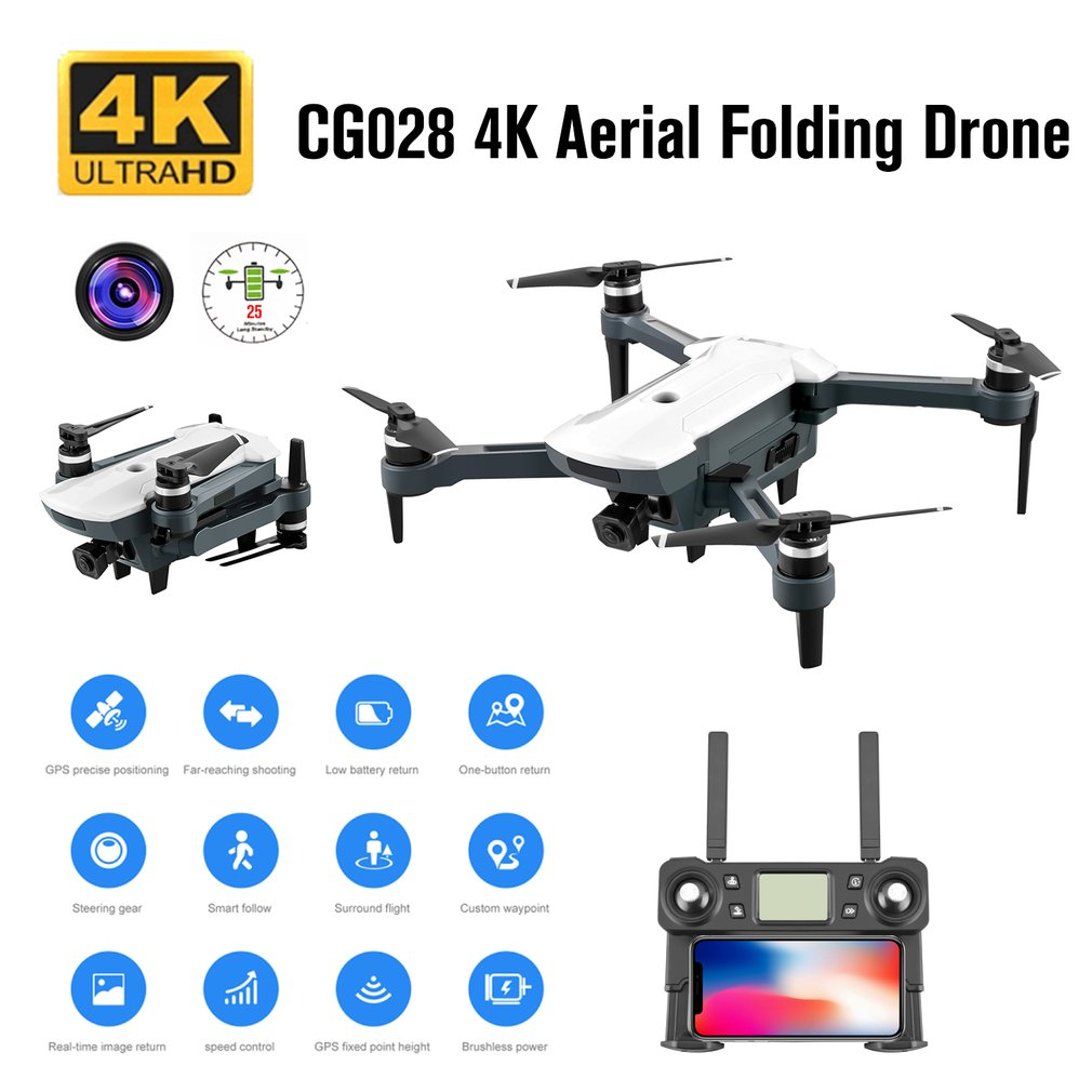 cheapest HD 4K Selfie APP Control Face Recognition RC Quadcopter Dual Cameras Headless Mode Wide Angle WIFI Outdoor Foldable Drone