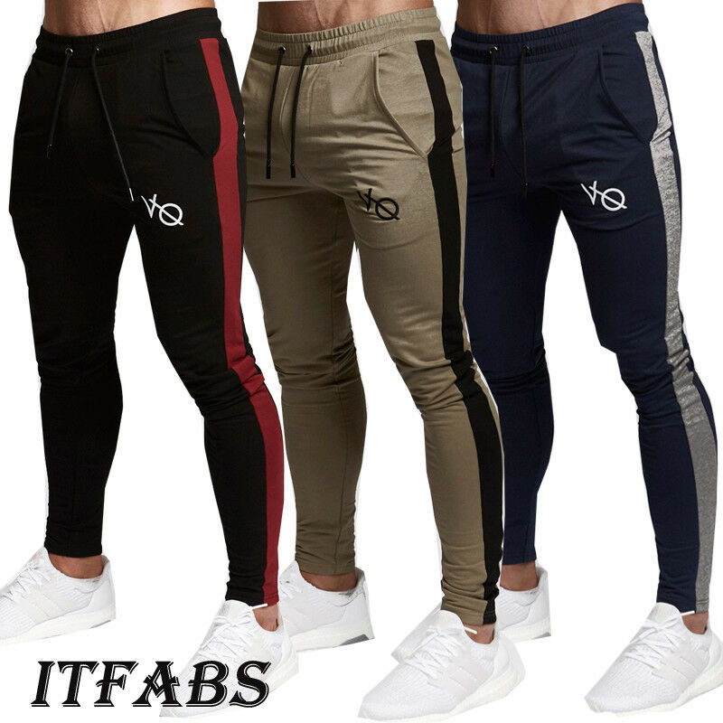 2019 Fashion Brand New Mens Casual Slim Fit Tracksuit Sport Gym Skinny Jogging Joggers Sweat Pants Trousers
