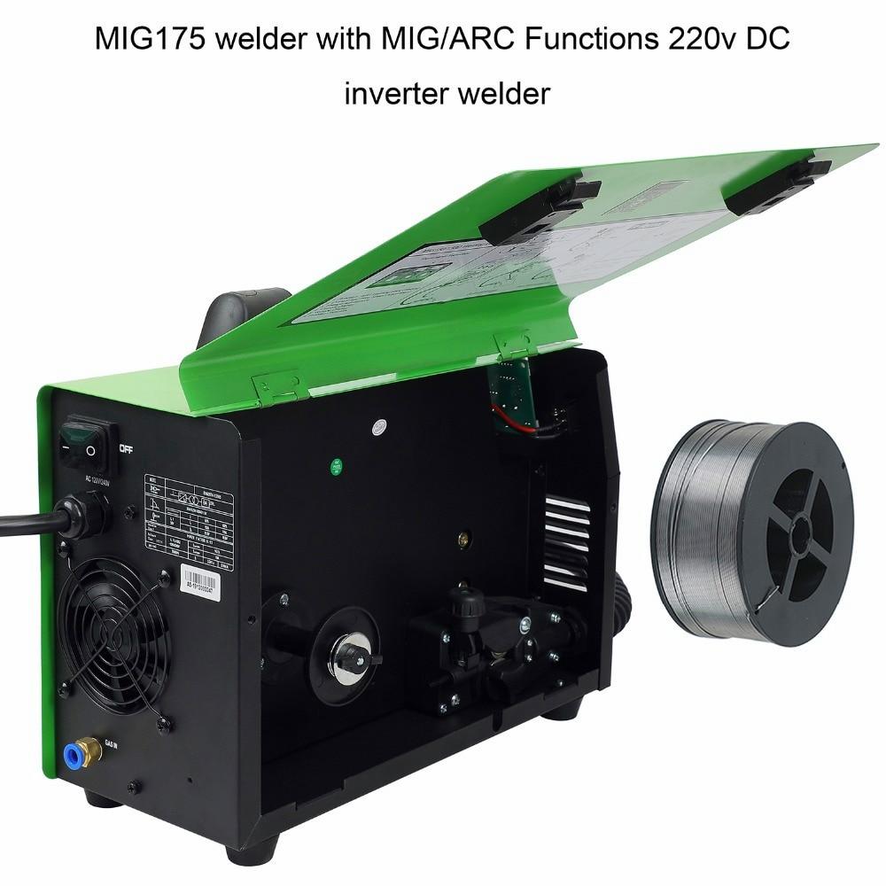 Máquina de soldadura Reboot Mig 90% MMA MAG MIG150 con accesorios MIG MAG, 2 en 1, 220V