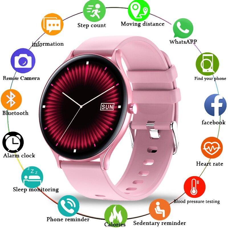 LIGE 2020 New Women Smart Watch Heart Rate Blood Oxygen Multifunction Sports Waterproof Ladies Smartwatch Fashion Women Watch