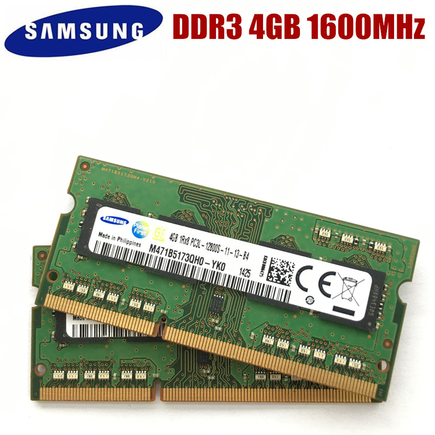 Модуль памяти для ноутбука SAMSUNG, 8 ГБ, 4 Гб, 2 Гб, DDR3, 1600 МГц, 8 ГБ, 4 Гб, 2 Гб, PC3L, 1600 МГц, оперативная память SODIMM