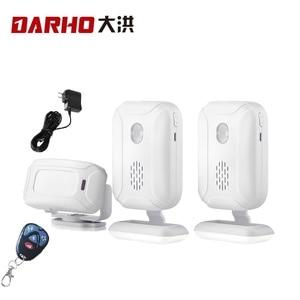 Image 2 - Darho אלחוטי פעמון בברכה IR אינפרא אדום motion חיישן מעורר 280M טווח חנות חנות דלת פעמון מגנטי פעמון