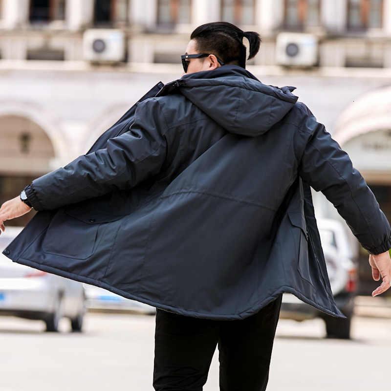 새로운 빅 사이즈 8xl 7xl 6xl 플러스 사이즈 남성 겨울 고품질 파카 블랙 딥 블루 자켓 남성 캐주얼 루스 남성 자켓 롱 코트