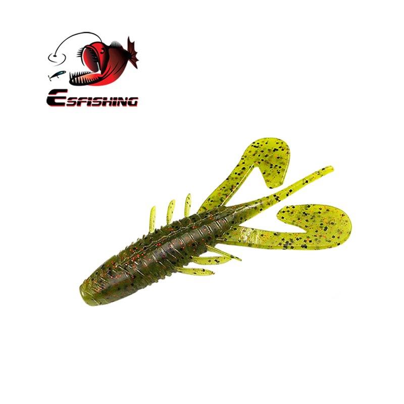 KESFISHING 2017 Fishing Lure Soft Silicone Bait Craw Assassin Logger Toad 115mm 13.8g 4pcs Tackle Trolls Carp PescaKESFISHING