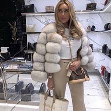 2020 novo estilo real casaco de pele natural casaco de pele feminino inverno quente casaco de pele de raposa de alta qualidade colete de pele frete grátis