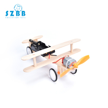 SZ STEAM Model Toy Diy Electric Motor Taxiing Aircraft Developing Intelligent STEM Science Birthday Gift SZ3201