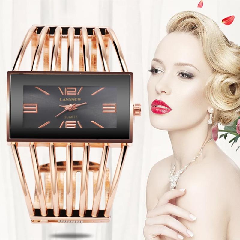 Bracelet Watch Montre Reloj Rose Gold Luxury Fashion Creative Casual Ladies Women Bangle For Bracelets For Women