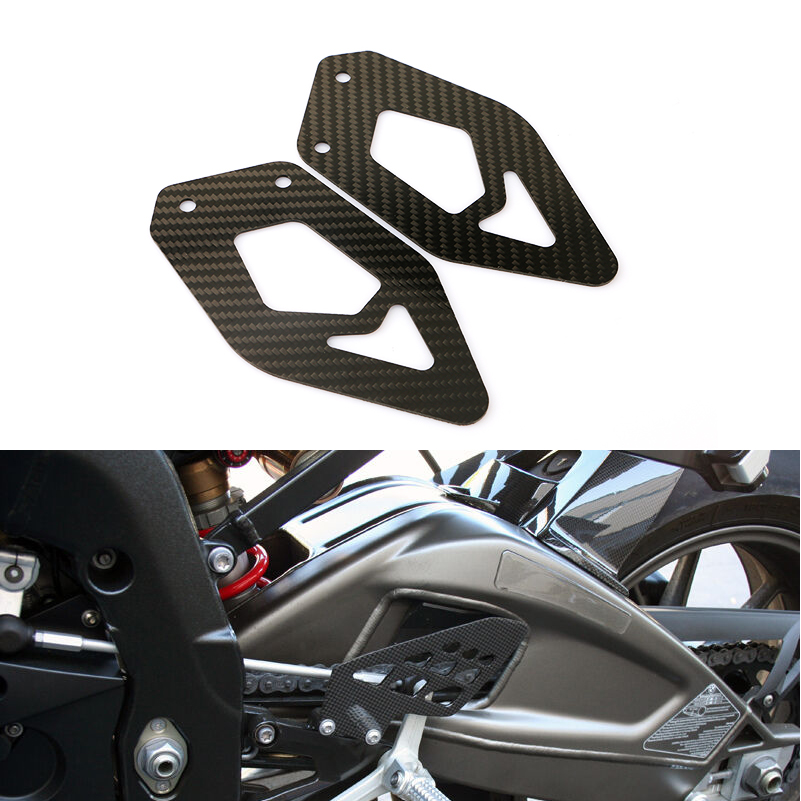 For BMW S1000RR 2009-2018 HP4 Rearset Foot Pegs Footrest Mount Heel Guard Plates Cowling Carbon Fiber 2018 2017 2016 2015 2014(China)
