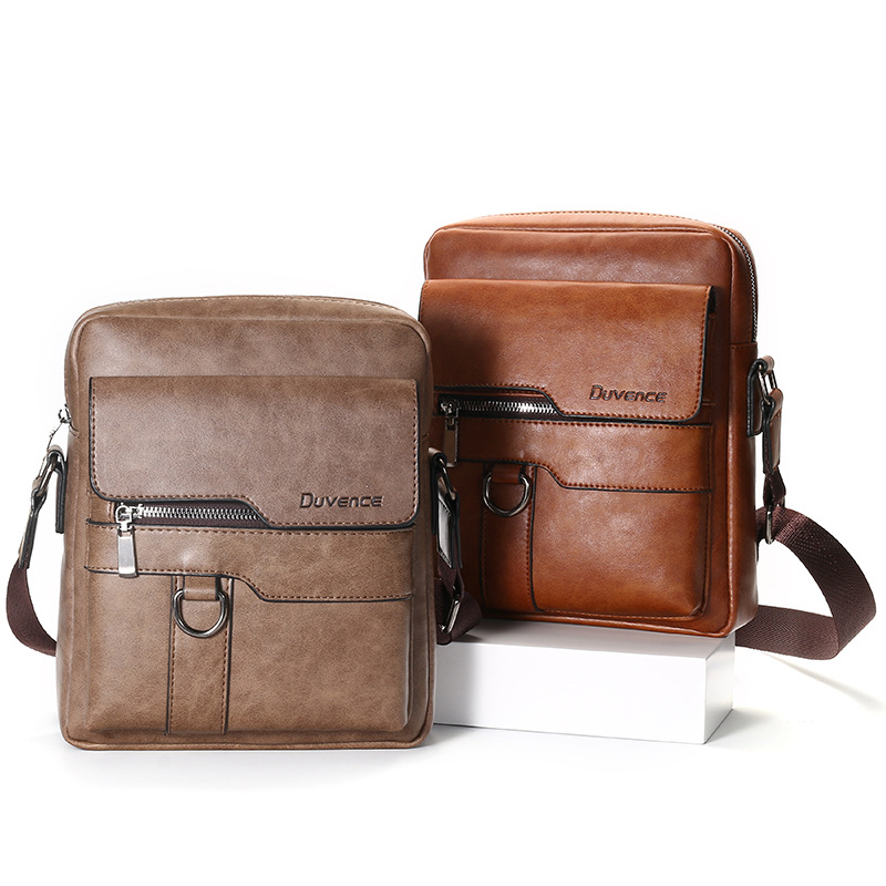 Men's Messenger Bag, Messenger Bag, Messenger Bag, Messenger Bag, Men's Bag, High Quality Leather, Popular In Foreign Trade