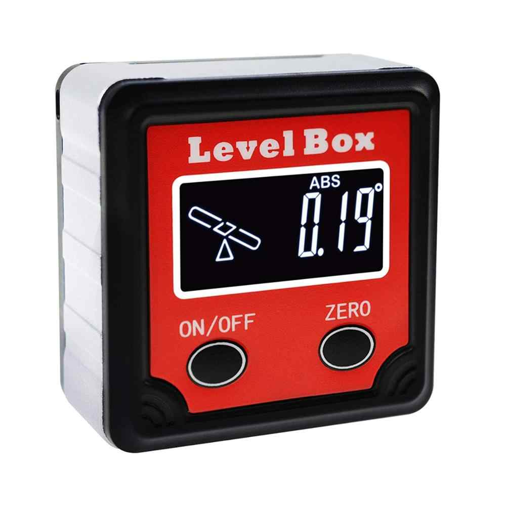 Digital Level Box Protractor Angle Finder Level Gauge Bevel Gage Inclinometer W Backlight Magnetic Base Tilt Direction Indicator