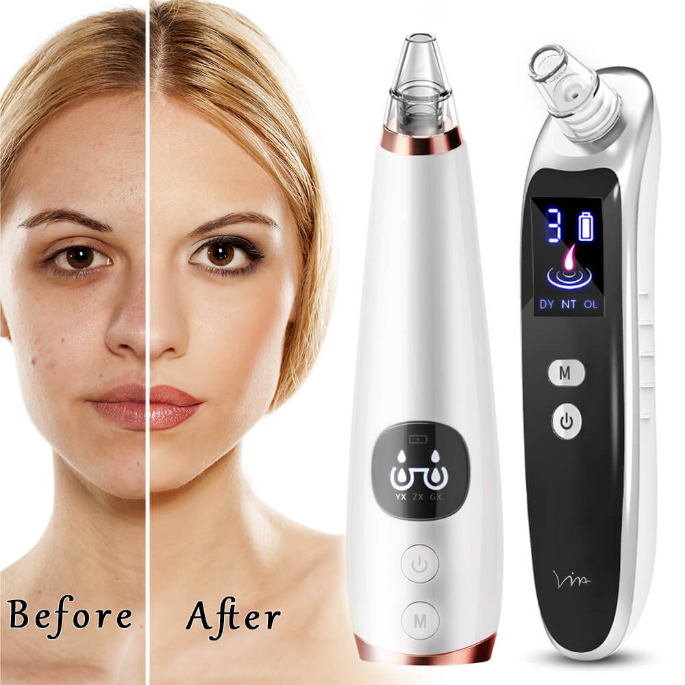 Powerful Blackhead Acne Remover Vacuum Cleaner Black Head Face Skin Care Extractor Pore Nose Lift Suction Facial Removal Massage