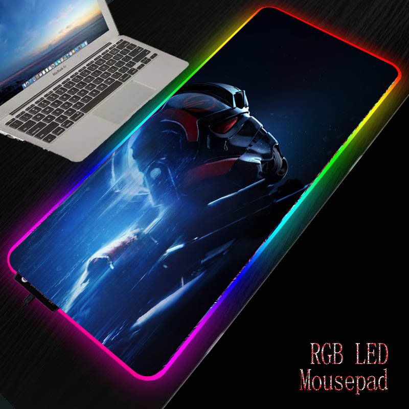 Mairuige Star War RGB Large Gaming Mouse Pad Led Computer Mousepad Big Mouse Mat Backlight for Keyboard Desk Mat Mause Carpet 1