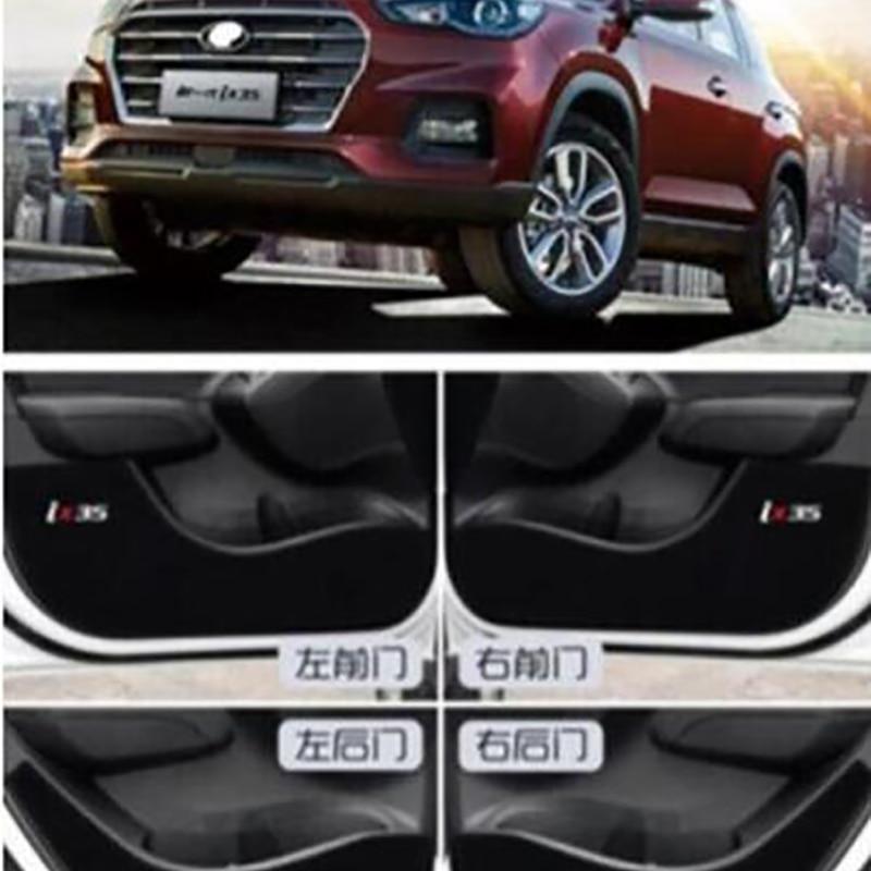 Новая Автомобильная дверь внутренняя сторона анти-удар защитная пластина из углеродного волокна Flim Наклейка для hyundai i30 ix 35 4 шт