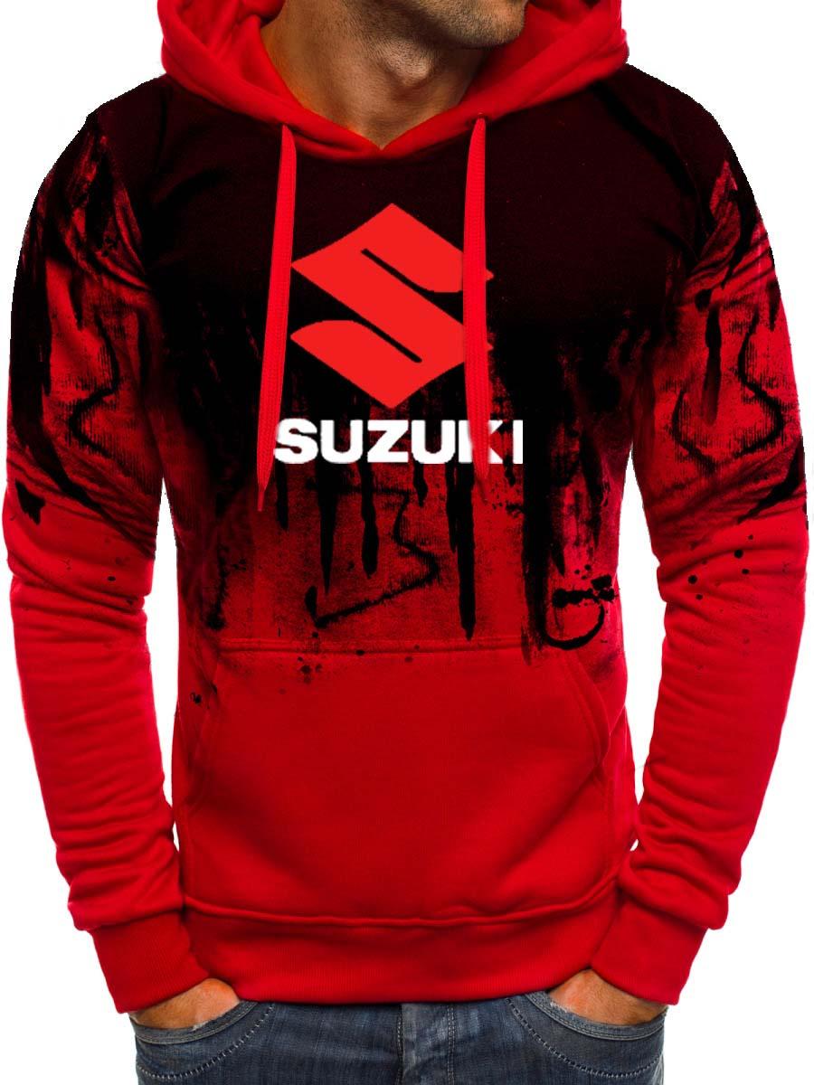 Hoodies Men Suzuki Car Logo Print Sweatshirt Spring Autumn Gradient Men Hoodie Hip Hop Harajuku Casual Hoody Tracksuit