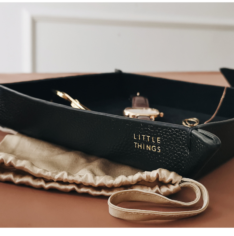 Genuine Leather Jewelry Storage Trays Home Decorative Coffee Ottoman Tray for Home Or Office Jewelry Key Wallet Phone EDC Tray in Jewelry Packaging Display from Jewelry Accessories