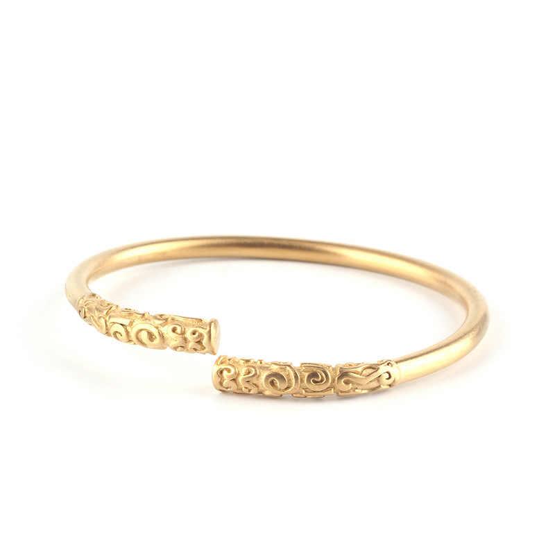 Mcilroy otwarty mankiet bransoletka i bransoletka dla kobiet mężczyzn ze stali nierdzewnej bransoletka Retro w stylu Vintage biżuteria unisex Pulseras Hombre 2019