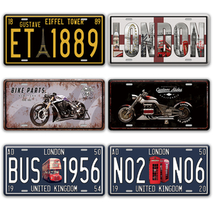 Beetle Car Welcome Tin Metal Poster Sign For Room Bedroom Wall Art Painting By Numbers License Plate Decor