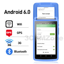 Protable Android 6.0 Rugged PDA Handheld POS Printer 58mm Terminal PDA 3G WiFi Bluetooth with Camera speaker Receipt Pr(China)
