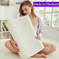 Moonlatex Original Pure Thailand Natural Latex Pillow Remedial Neck Protect Vertebrae Health Care Orthopedic Pillow Slow Rebound