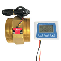 US211M Lite DN80 20 500L/Min Digital Flow Meter 5V Flow Reader Compatible with All Our Hall Effect Water Flow Sensor With