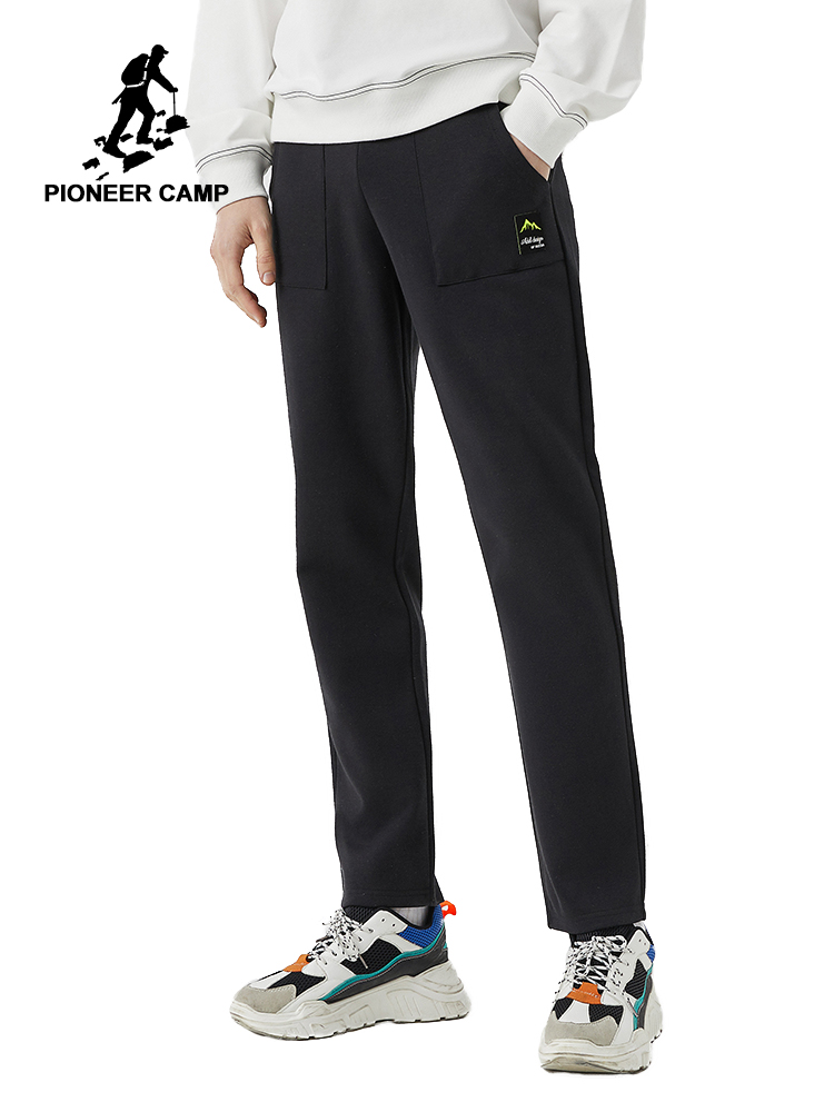 Pioneer Camp 2020 New Straight Sweatpants Men Hip Pop Streetwear Cotton Loose Men's Pants AZZ0105014