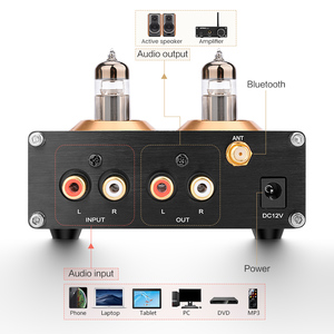 Image 4 - Aiyima Buffer Hifi 6J5 (Upgrade 6J1) bluetooth 4.2 5.0 Tube Voorversterker Versterker Stereo Voorversterker Met Treble Bass Tone Ajustment