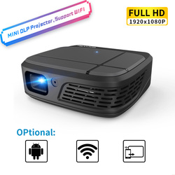 Portable Smart Home Theater Cinema Wifi DLP Mini 3D HD LED Pocket Projector Video USB For Full HD 1080P Beamer Wireless Screen